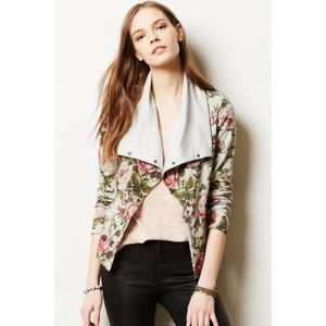 Anthropologie Florascape Knit Moto Jacket, Size XS
